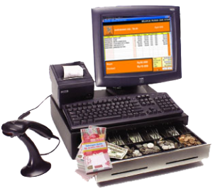 Mesin POS (Point of sale), PC, Barcode Scanner, Printer Mini, Cash